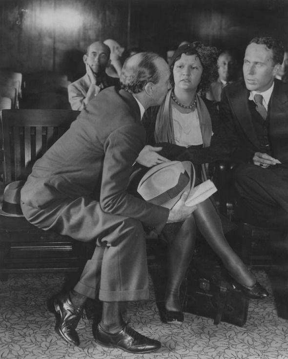 Olive Clark Day in court (1931)