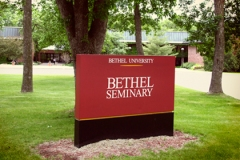 Bethel Seminary sign