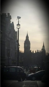 Lauren's photo of Big Ben, taken from Trafalgar Square
