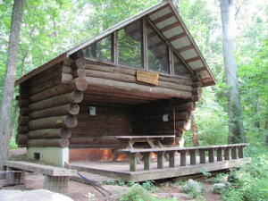 The Ed Garvey Memorial Shelter is located on the Appalachian Trail at Weverton Cliffs in Maryland near Harpers Ferry, WV. See: https://hikeitforward.wordpress.com/tag/edward-b-garvey/